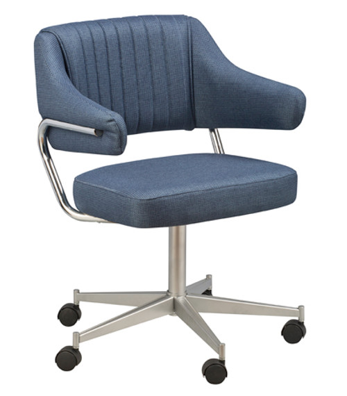 Padded Arm Bucket Chair 1, caster base | Seats and Stools