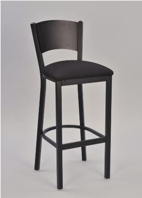 Solid Metal Back Bar Stool | Seats and Stools