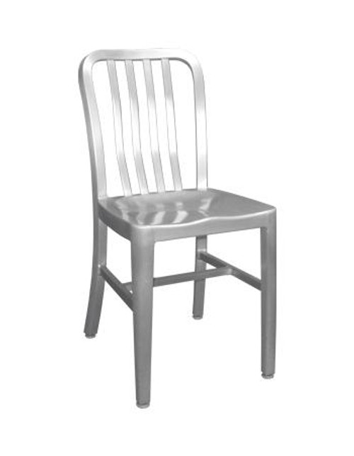 The Rosa Outdoor Aluminum Chair is an easy choice, featuring a contemporary slat back style, rust-proof aluminum finish, and a durable welded frame (fully assembled).