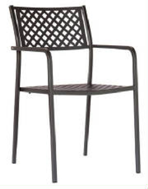 The Lola Outdoor Metal Stacking Chair will be perfect for your restaurant, bar  or home out door patio.