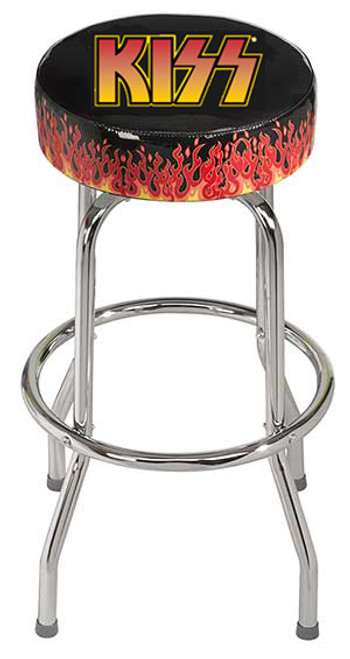 Kiss Band Bar Stool with full swivel top