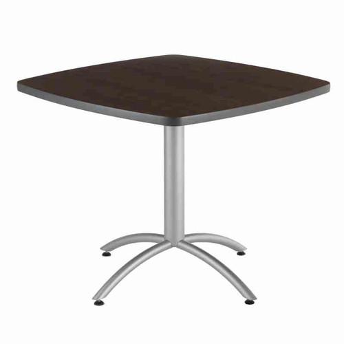 "Iceberg CafeWorks 30"" High Cafe Table in Walnut finish"