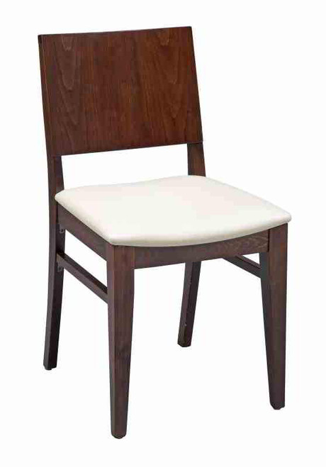 Bosworth Chair with white upholstered seat (front view).
