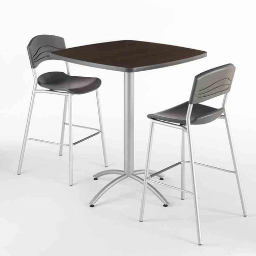 Our CafeWorks Bistro Table and Bar Stool Set lets you choose table size, shape and finish.