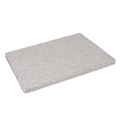 Grey granite table top for your restaurant or bar's indoor or outdoor seating area. Available in square/rectangle or round.