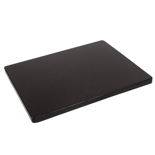 Black granite table top for your restaurant or bar's indoor or outdoor seating area. Available in round or square/rectangle.