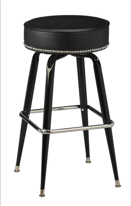 Square Bar Stool Base with Head-on-Head Nail Trim | Seats and Stools