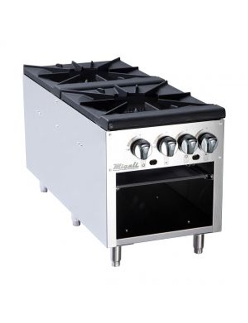 "Migali 2 Burner 18"" Stock Pot Stove"