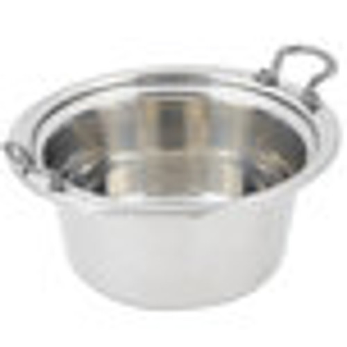"""Bon Chef 5460HRSS 12"""" x 12"""" Stainless Steel 5 Qt. Casserole Laurel Design Food Pan with Round Stainless Steel Handles"""