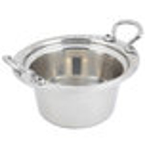"""Bon Chef 5650HRSS 10"""" x 9"""" x 5"""" Stainless Steel 2 Qt. Arches Design Casserole with Round Stainless Steel Handles"""