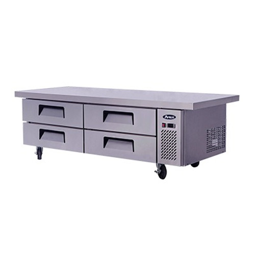 """Atosa 76"""" Chef Base w/Extended Top"""