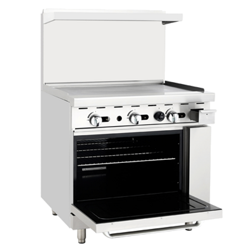 "Atosa 36"" ATO-36G Gas Range Griddle Top with Standard Oven"