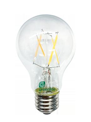 7 watt filament LED bulb on white background