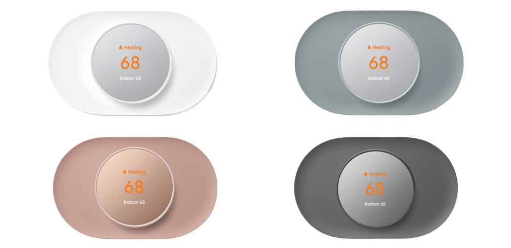 Nest Thermostat Trim Kit Snow Fog Sand Charcoal