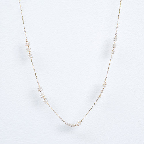 triple pearl blossom necklace
