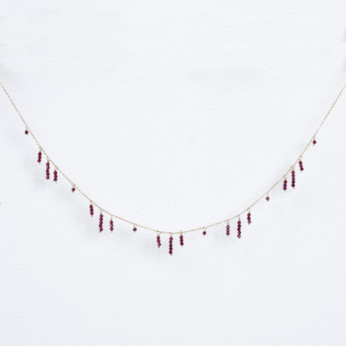 garnet icicle necklace