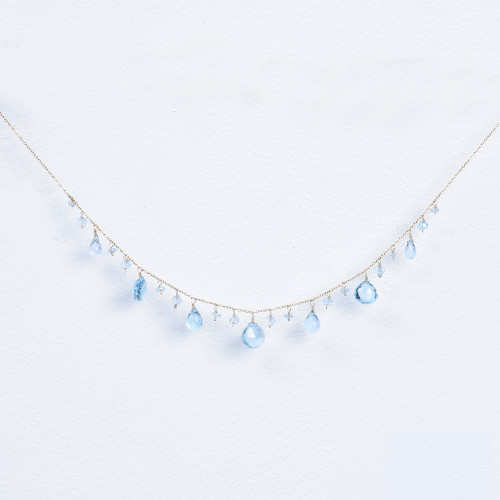 blue topaz mix necklace