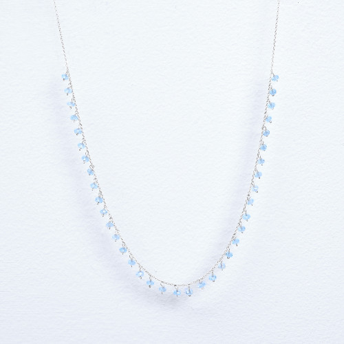 Blue topaz dangle necklace