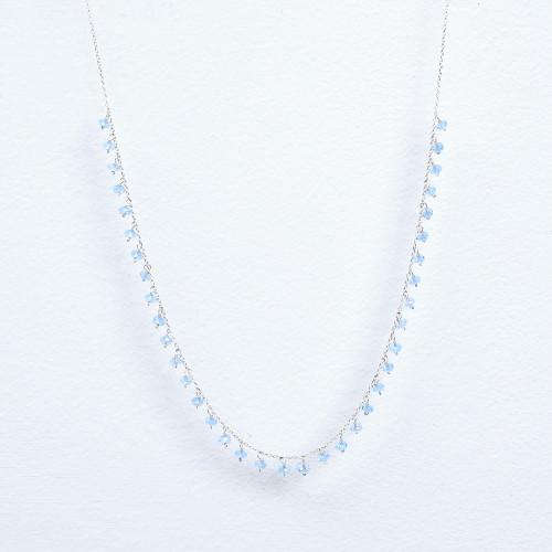 Blue topaz dangle necklace