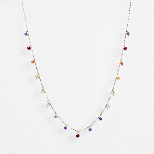 multi rainbow/chakra necklace