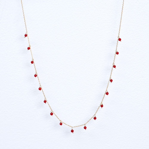 red coral dangle