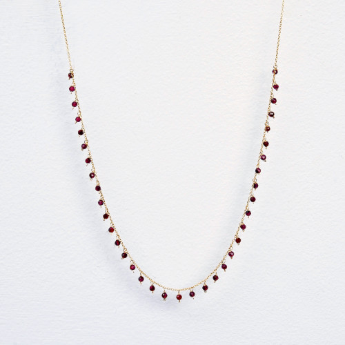 Garnet dangle necklace
