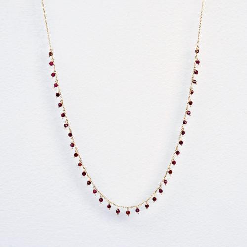 Garnet dangle necklace