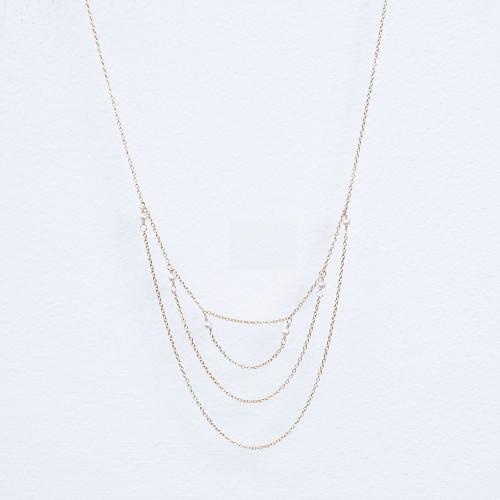 triple chain w/pearl