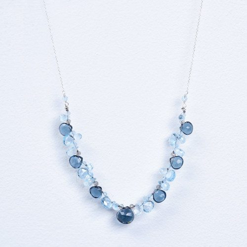 london blue quartz/blue topaz