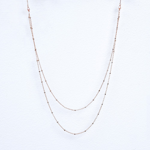 rose gold fill sparkly ball chain