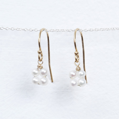 pearl blossom drop earring