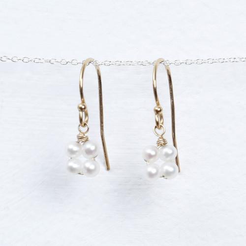pearl blossom drop earring