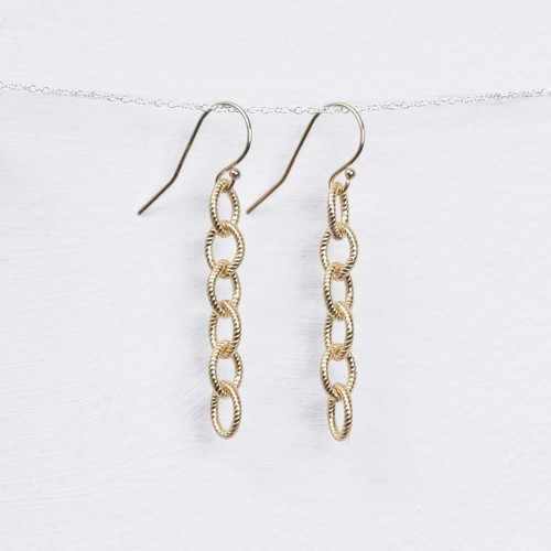 long rope chain earring