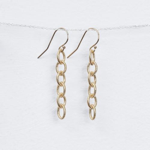long rope chain earring