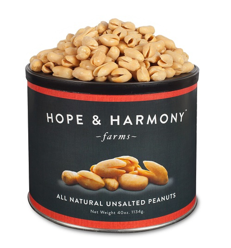 We left off the salt but NOT the flavor. The fresh roasted aroma greets your nose as you pop open the tin. These peanuts are even more perfect for healthy snacking.