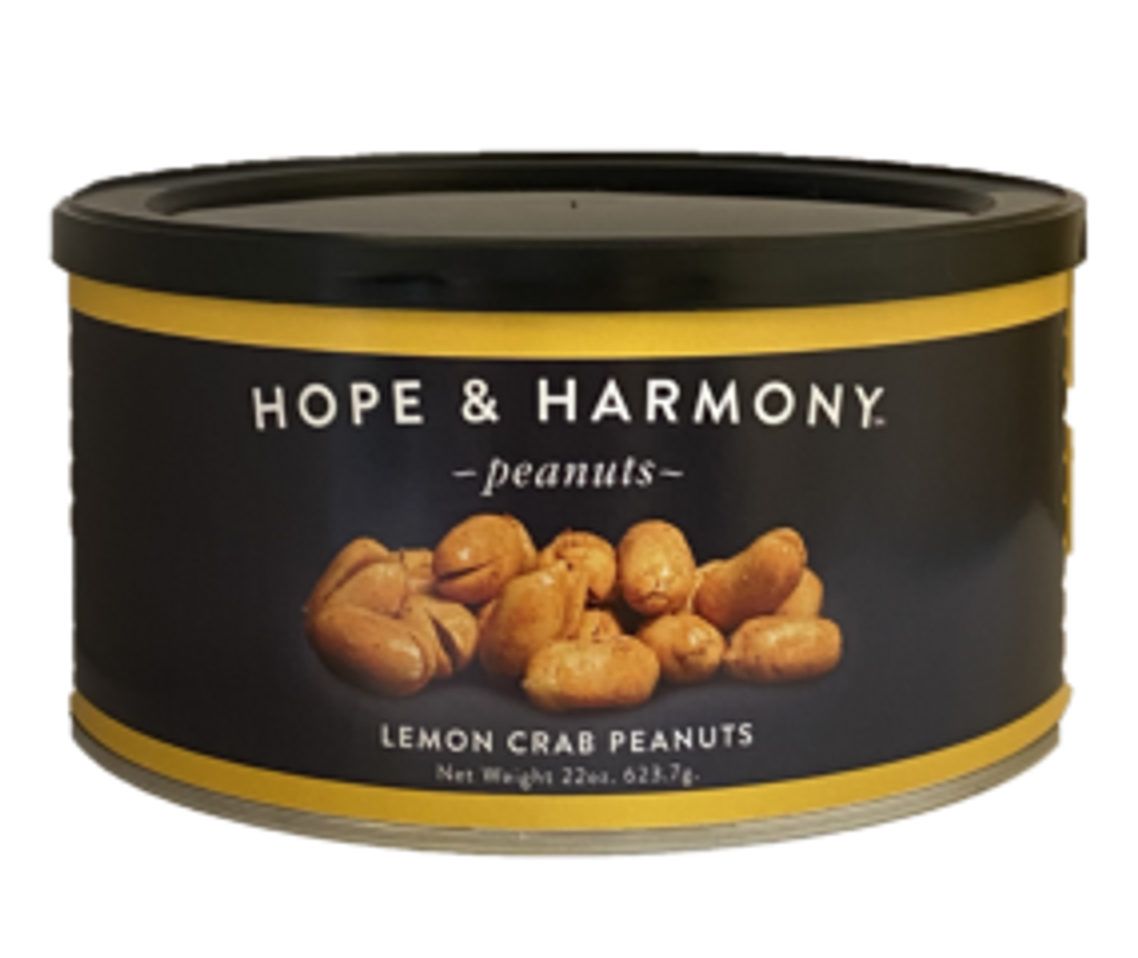 All the seaside flavors of our local Chesapeake Bay have been brought together for this flavorful treat. We've combined our very own seafood seasoning with fresh lemon zest and topped our classic gourmet peanuts with this special blend. Just one taste and you will see why it's a favorite!
