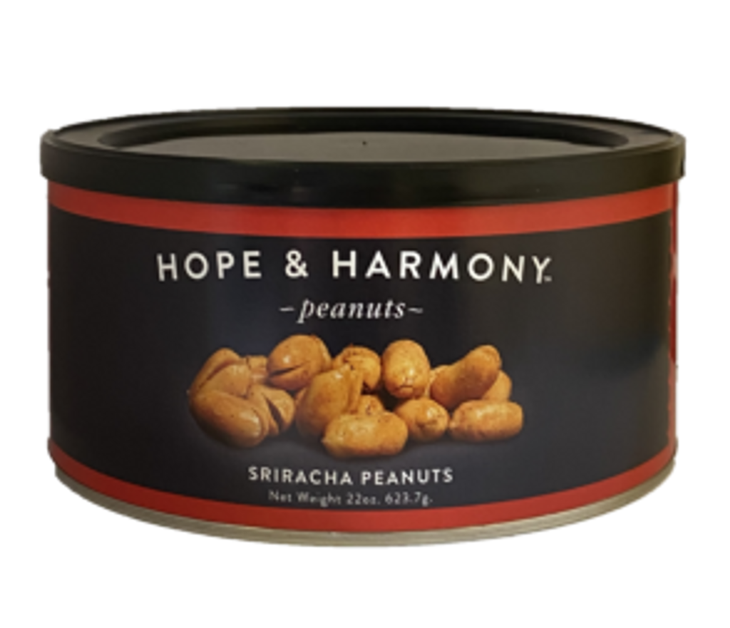 Our super extra-large Virginia peanuts are smothered in a sriracha seasoning that is tangy-sweet with a kick of garlic. Oh, it's spicy!