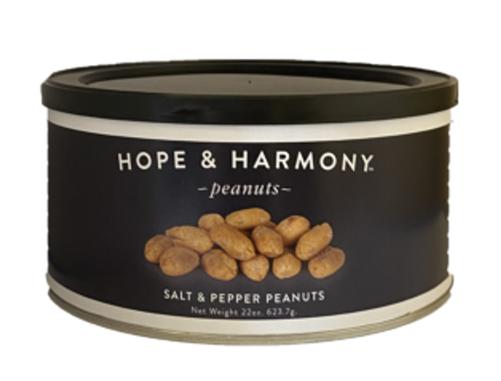 Our classic Gourmet Peanut with a kick! A dash of salt and pinch of fresh cracked pepper season our super extra large Virginia peanuts. These nuts are addictive; one taste and you're hooked!