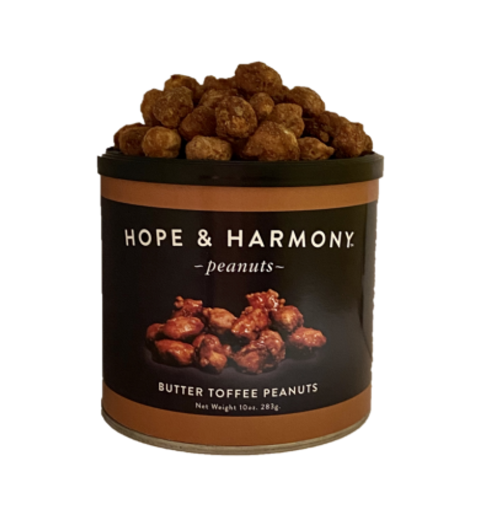 Virginia Peanuts glazed in butter, sugar and salt and toasted to perfection for buttery sweet peanuts.