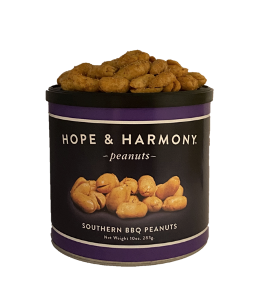 Our premium Virginia peanuts are slow cooked and blistered to perfection. When each small batch is fresh out of the cooker, we flavor it with our special blend of, onion, garlic, paprika, and chipotle spices. These smoky-hot flavors guarantee each and every bite delivers a mouth-watering Southern BBQ experience.  Quality • Tradition • Goodness