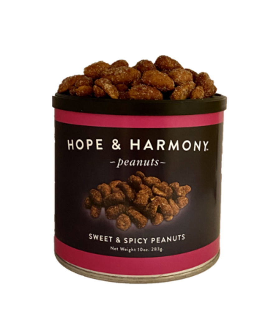 Like your sweet with a side of spice? Then you will love our Sweet and Spicy peanuts! These are Honey Roasted peanuts taken to the next level… with a Chipotle Spice rub added to the mix. A little sweet, a lotta spice, your taste buds won't know what hit them. One thing is for sure, these will keep you coming back again and again.  Quality • Tradition • Goodness