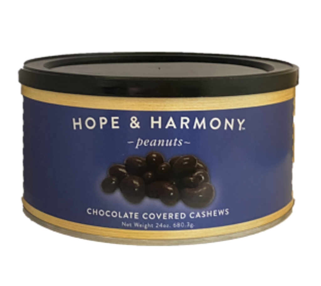 Pamper yourself with a decadent treat that is sure to delight every time. Tender, roasted cashews are dipped in rich, milk chocolate, then panned to a satin sheen. Sinfully delicious never tasted so good!  Quality • Tradition • Goodness