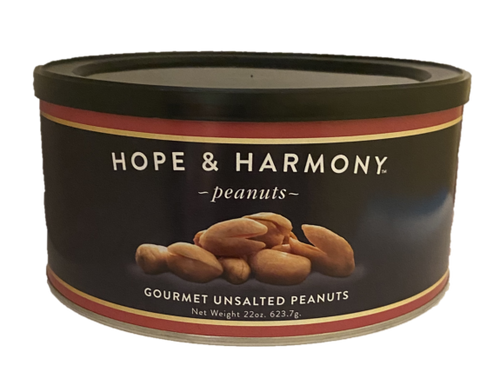 We left off the salt but NOT the flavor. The fresh roasted aroma greets your nose as you pop open the tin. These peanuts are even more perfect for healthy snacking. Happy Eating!