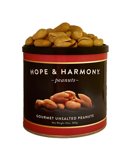 Hand roasted Virginia peanuts with no salt, but loads of flavor!