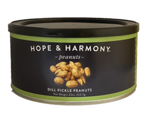 Dill Pickle peanuts offers a spin-off from a classic, American staple: bold dill, salt, and garlic create the perfect flavor profile for pickle enthusiasts and peanut lovers alike.