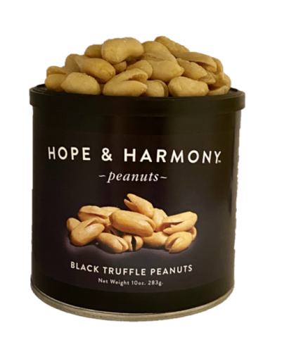 Our Black Truffle  peanuts are made from gourmet Italian black truffles and extra large Virginia peanuts. The truffles add a touch of  luxury taste and aroma. These peanuts are excellent as a delicious snack or appetizer.    A new experience for your palate, perfectly roasted Virginia peanuts and a small part of black truffle and sea salt sprinkled on top. This really is the ultimate Truffle peanut.