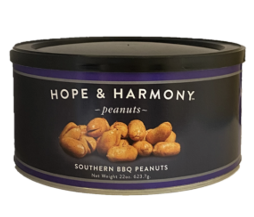 Let us bring a Southern tradition to your door. Our recipe delivers the smoky, zesty, subtly sweet BBQ flavor the South is known for. Our premium Virginia peanuts are slow cooked and blistered to perfection. When each small batch is fresh out of the cooker, we flavor it with our special blend of, onion, garlic, paprika, and chipotle spices. These smoky-hot flavors guarantee each and every bite delivers a mouth-watering Southern BBQ experience.  Quality • Tradition • Goodness