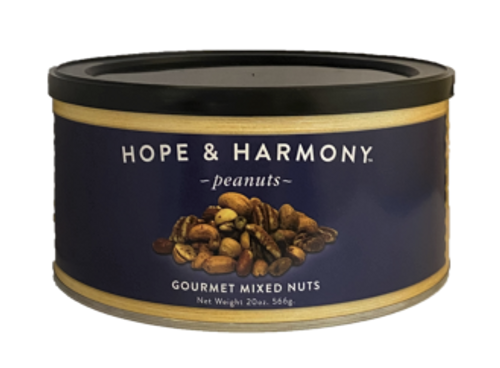 The best of the best...a combination of our premier nuts. This deluxe mixture contains roasted Pecans, roasted Cashews, roasted Redskin Peanuts, Shelled Pistachios and Macadamia Nuts…something for everyone! Lightly salted and full of flavor.  Quality • Tradition • Goodness
