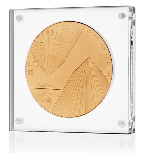 US Mint 2 inch commemorative medal display