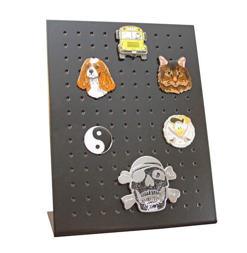 STYKYT lapel pin, magnet, earring display